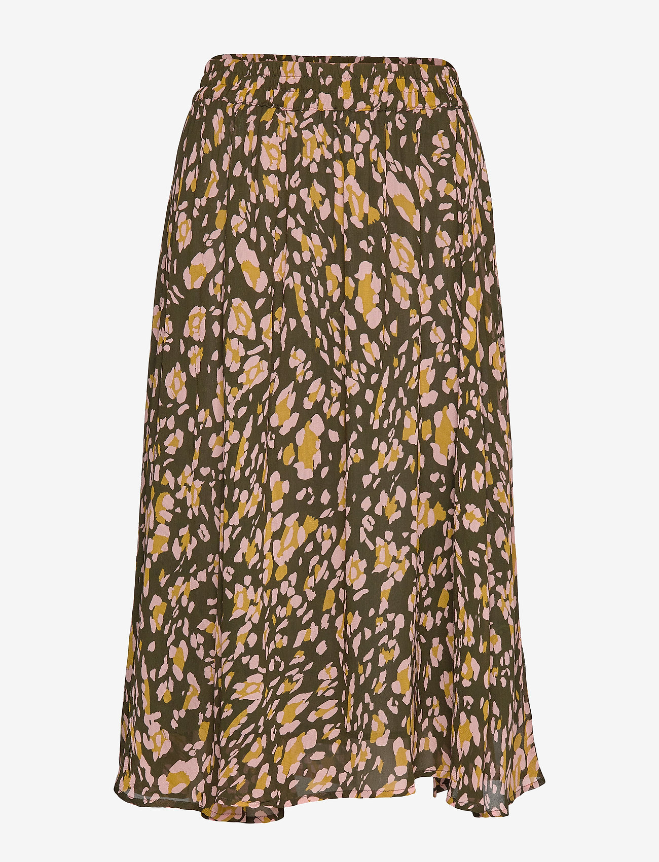 Clariceiw Skirt (Olive Leaf Irregular Animal) (600 kr) - InWear