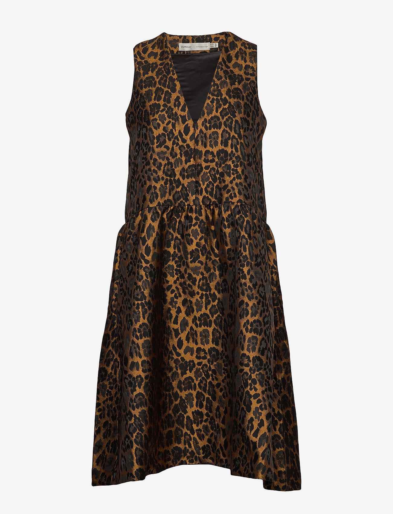 InWear - MounaIW Dress - midimekot - leopard gold