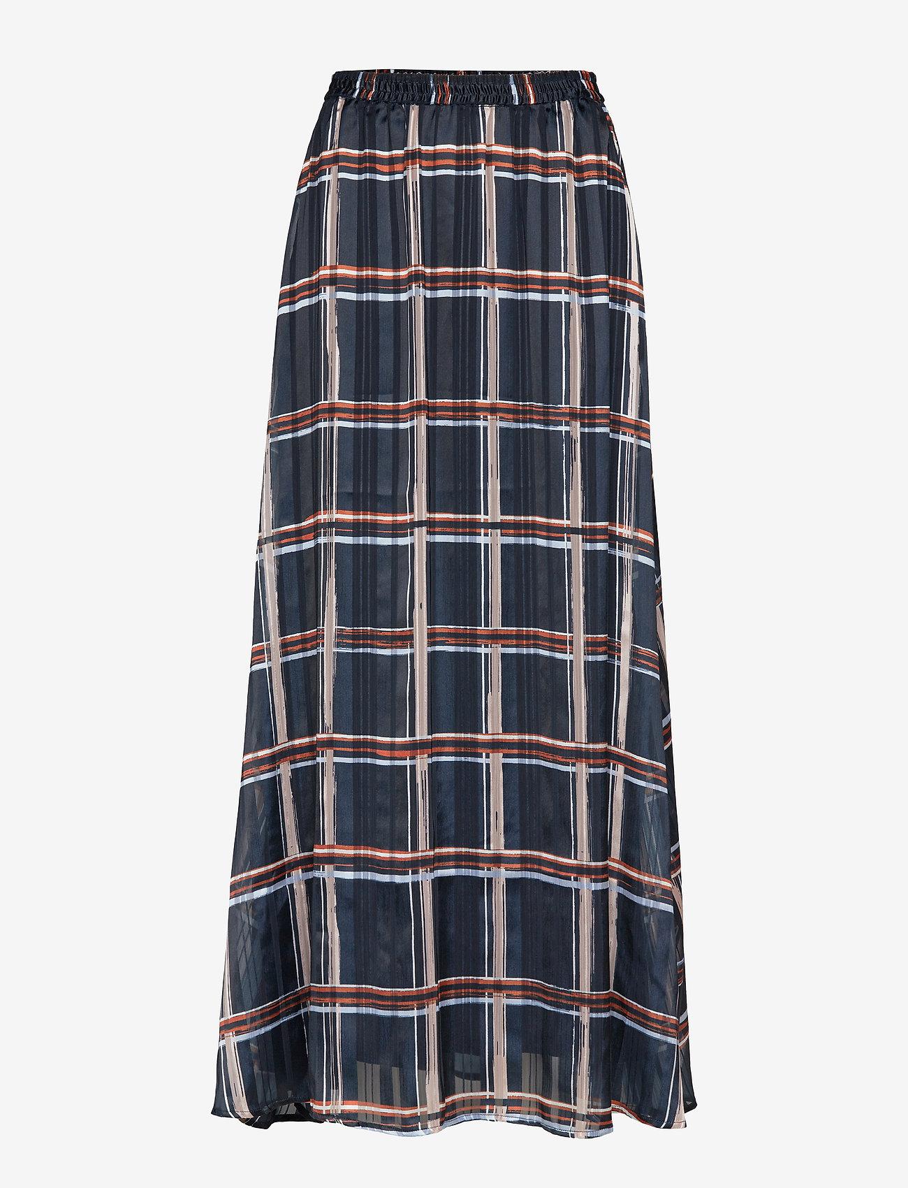 InWear - ZilmaIW Hilma Skirt - midi skirts - marine blue check