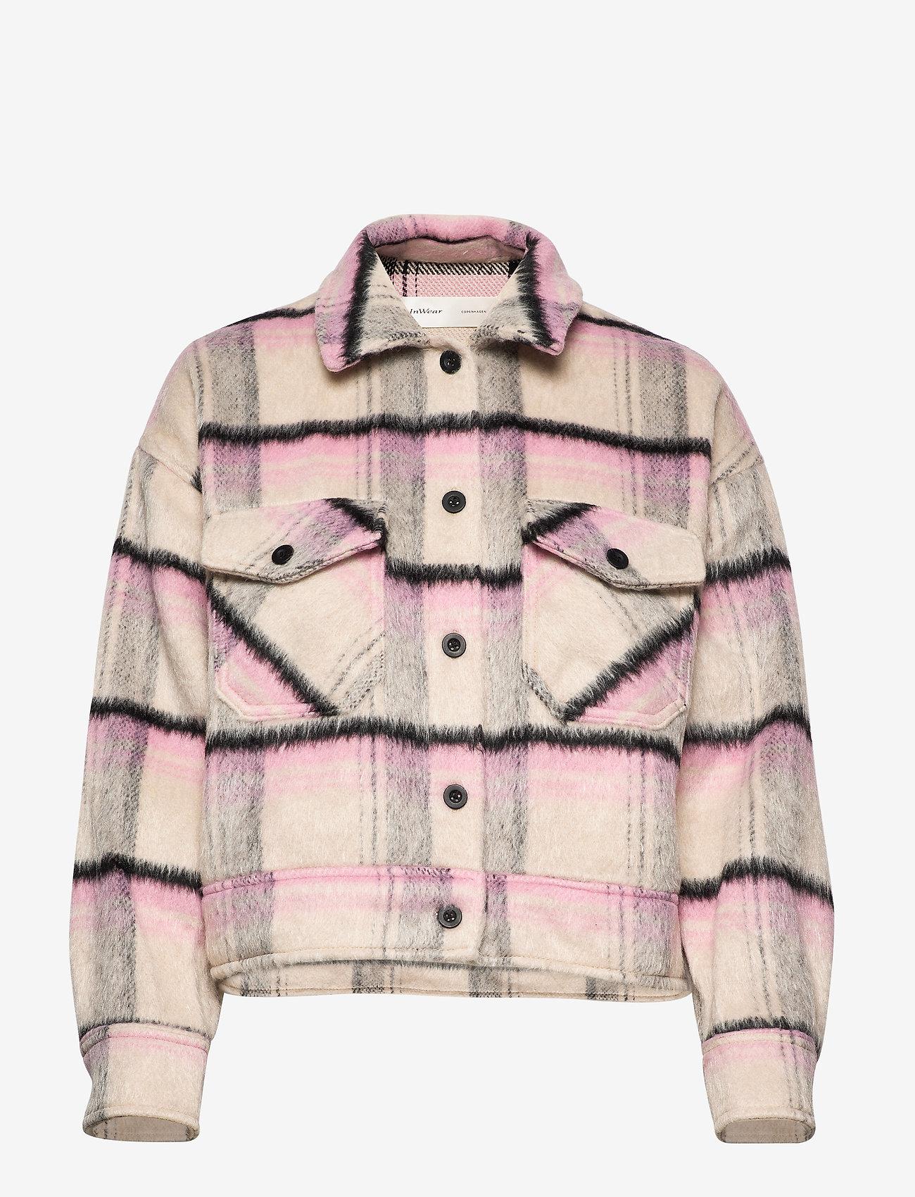 InWear - EloIW Jacket - wełniane kurtki - check - 0