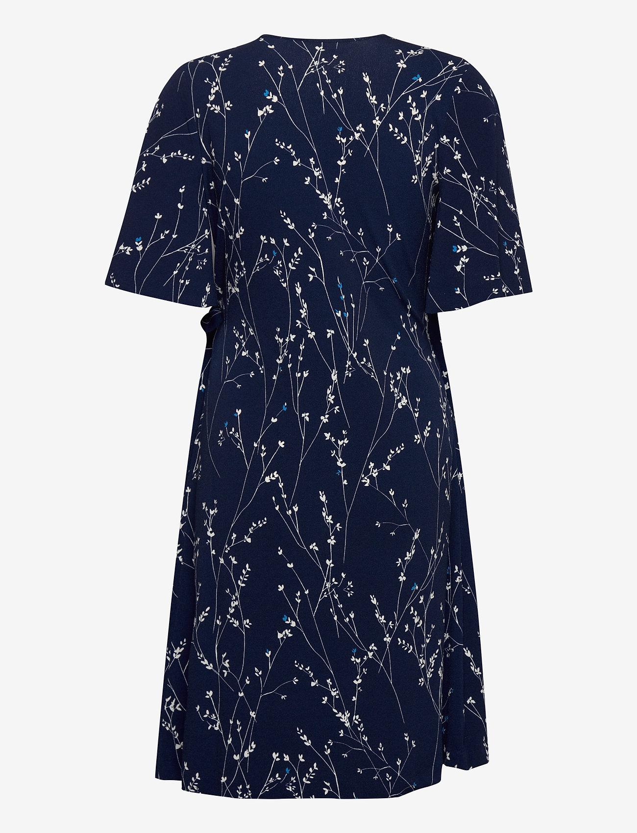 InWear KalvinIW Wrap Dress - Kjoler INK BLUE BRANCHES - Dameklær Spesialtilbud