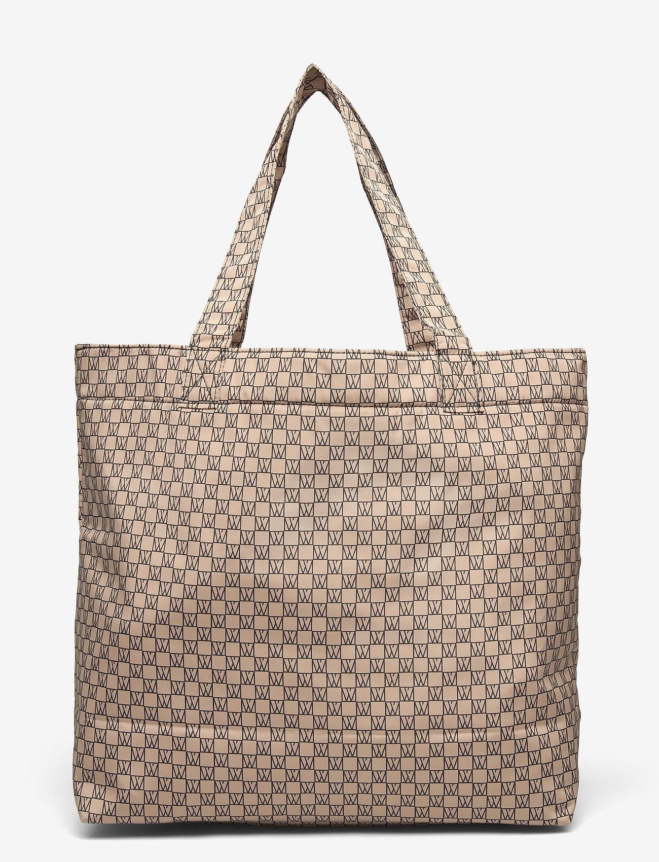 InWear - IW Travel Tote Bag - tote bags - iw logo beige/black - 1