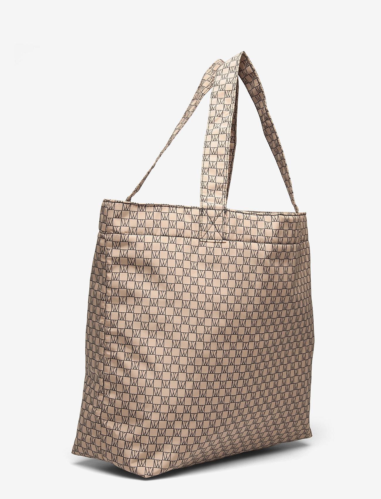 InWear - IW Travel Tote Bag - tote bags - iw logo beige/black - 2