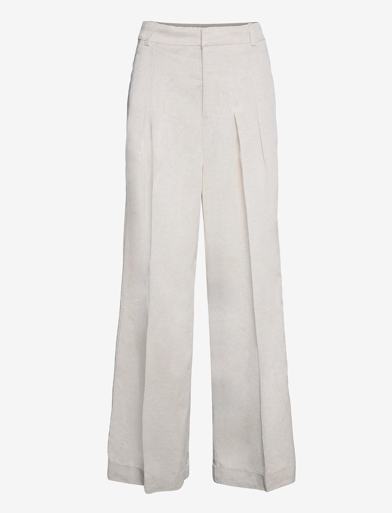 InWear - AilaIW Wide Pant - bukser med brede ben - ecru - 1
