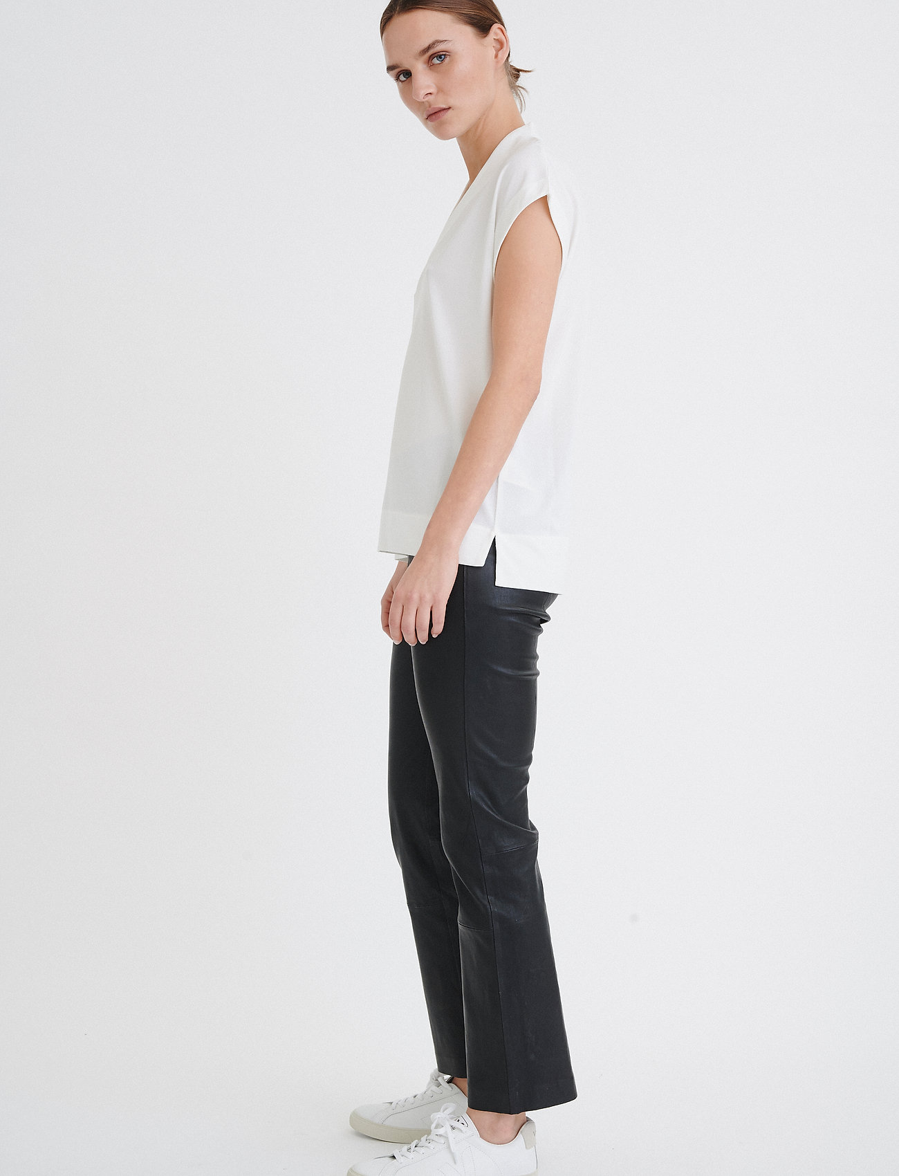 InWear Yamini Top - T-shirts & topper WHITE SMOKE - Dameklær Spesialtilbud