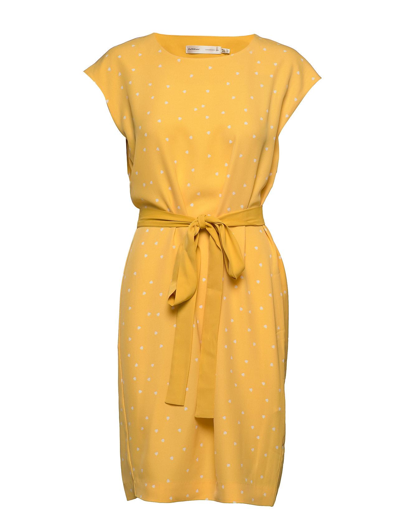 InWear Saffron Dress - YELLOW SMALL LEAF
