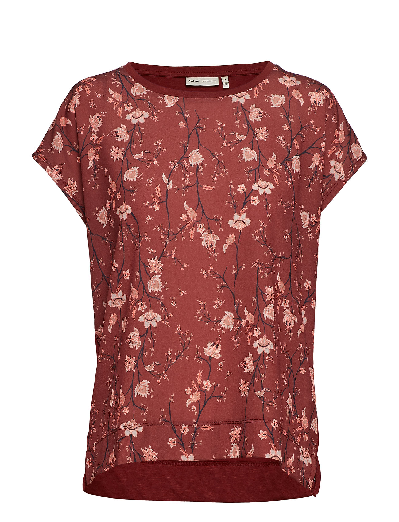InWear Sicily Tshirt - RUSSET BROWN ASIAN FLORAL