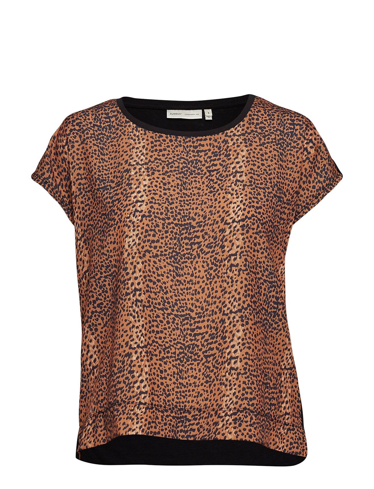 InWear Sicily Tshirt - LIGHT BROWN ANIMAL