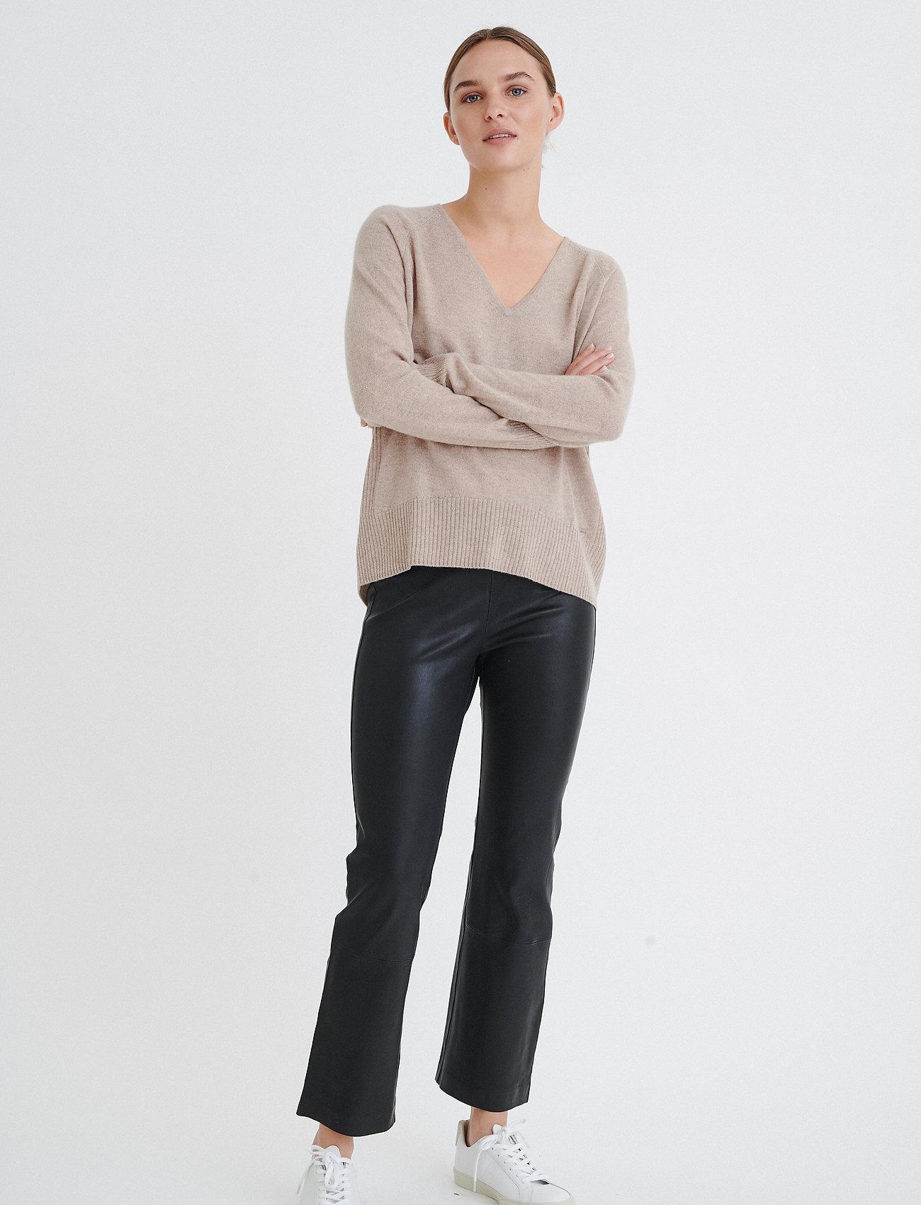 InWear - Cedar Pant - læderbukser - black - 0