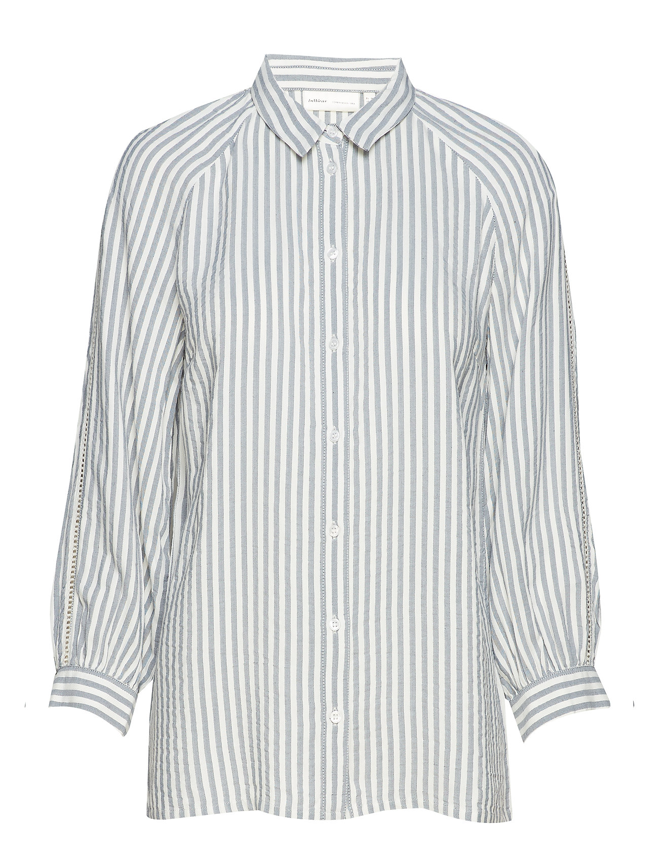 InWear Alma Striped Shirt - MARINE BLUE