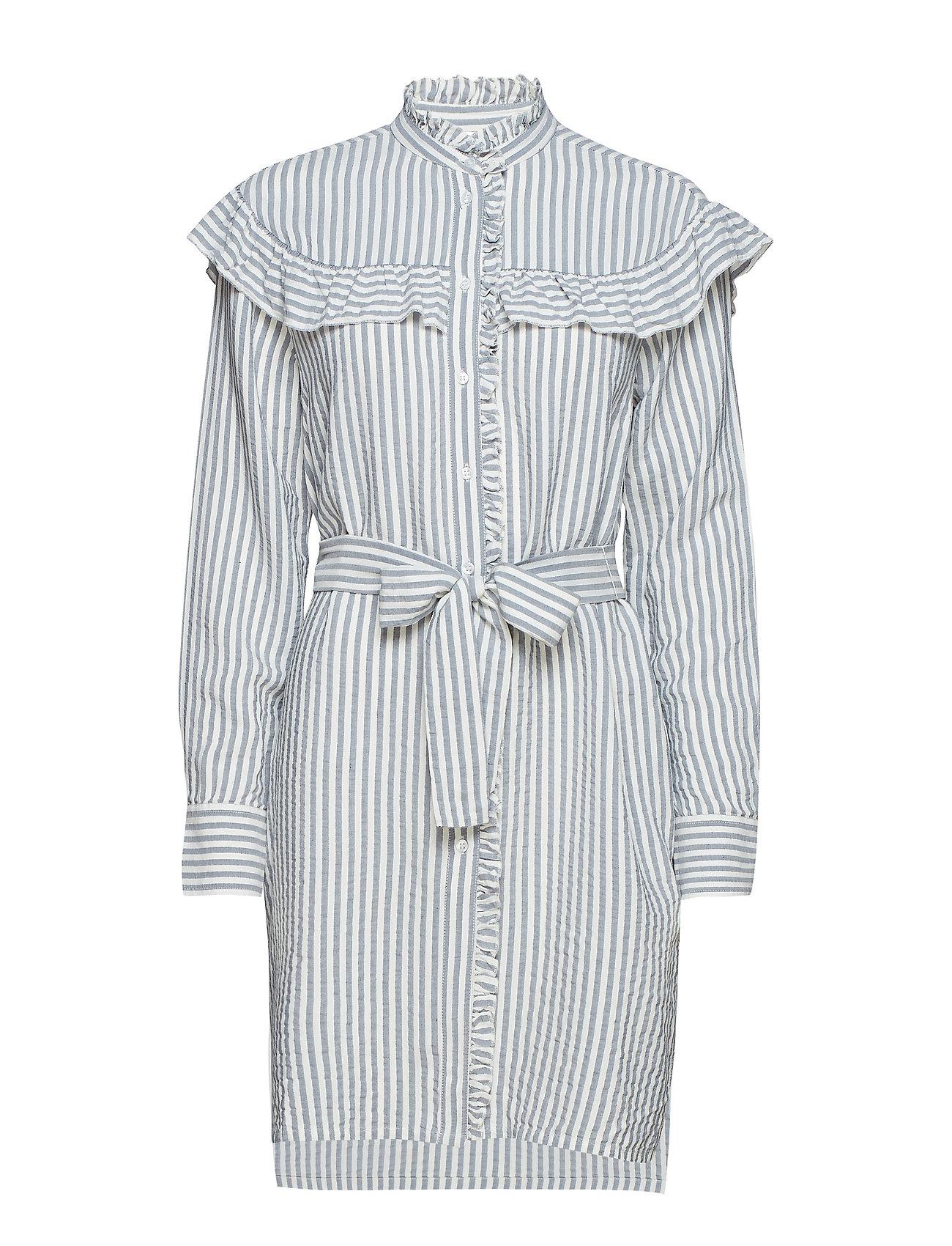 InWear Alma Long Striped Shirt - MARINE BLUE