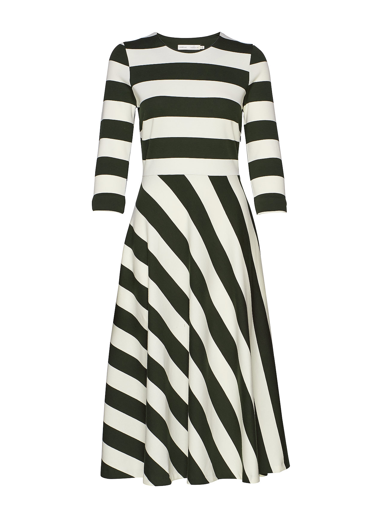 InWear Werone Cirkle Skirt Dress - FRENCH NOUGAT / OLIVE LEAF