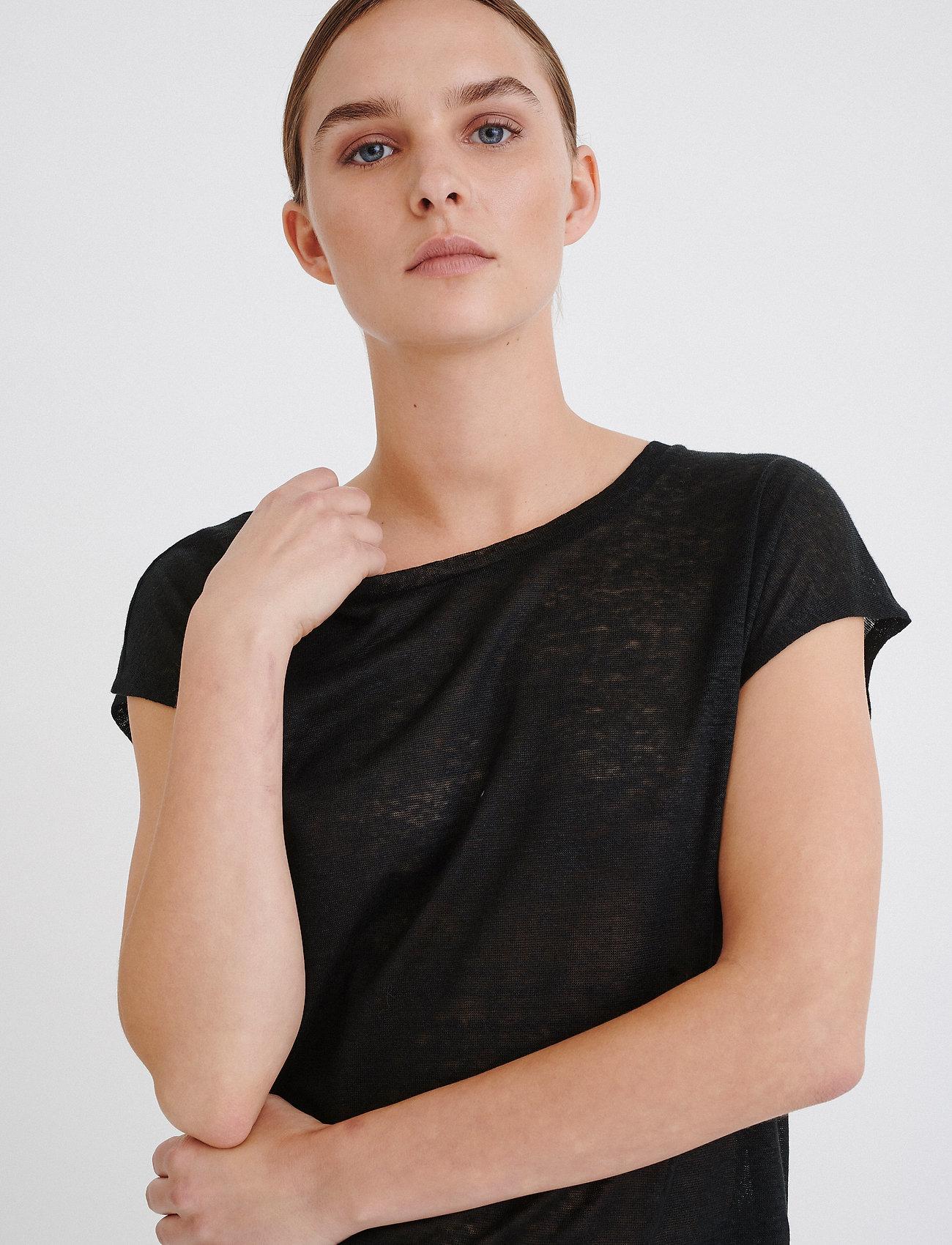 InWear Faylinn O T-shirt - T-shirts & topper BLACK - Dameklær Spesialtilbud