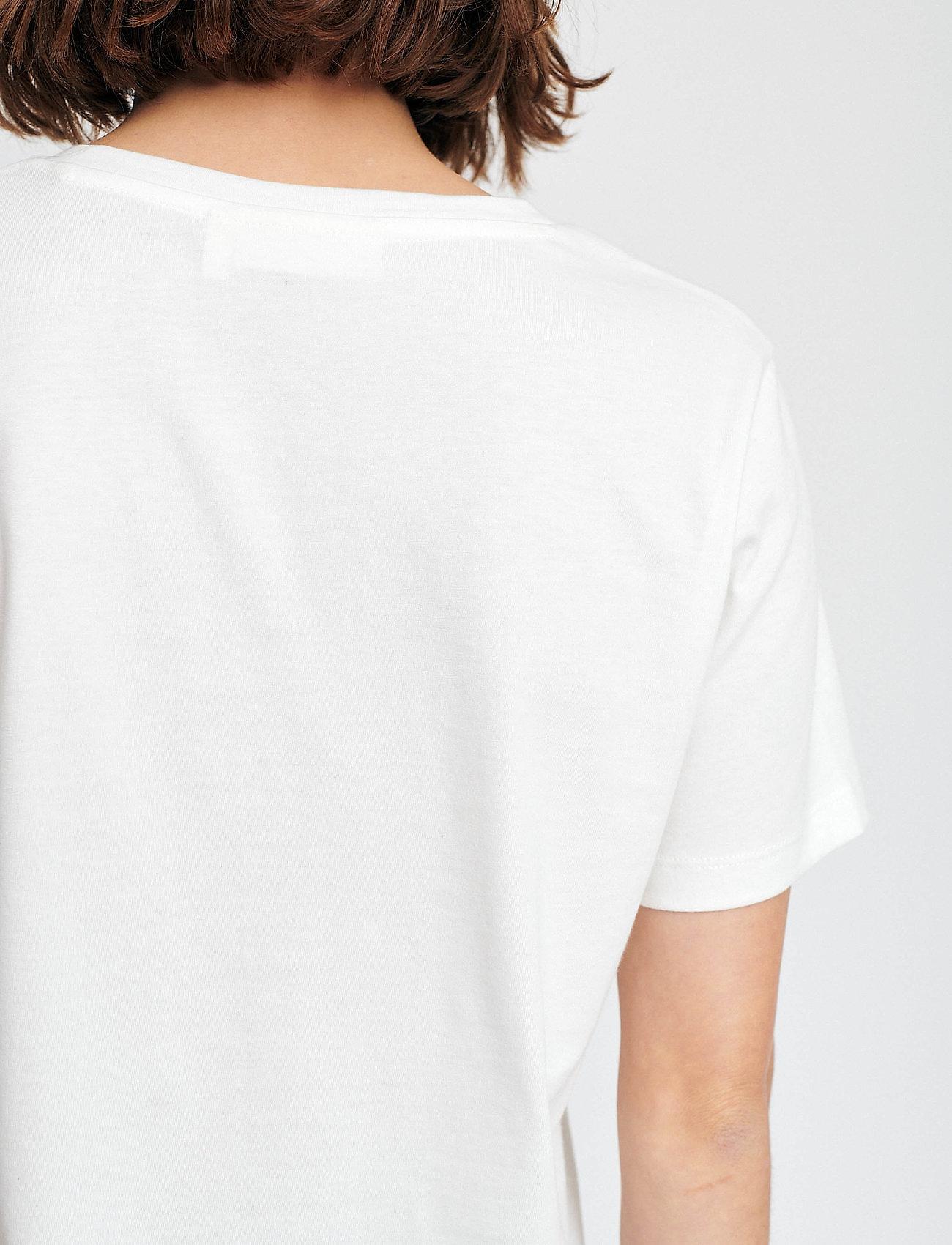 InWear Kaila V-neck T-shirt - T-shirty i zopy WHITE SMOKE - Kobiety Odzież.