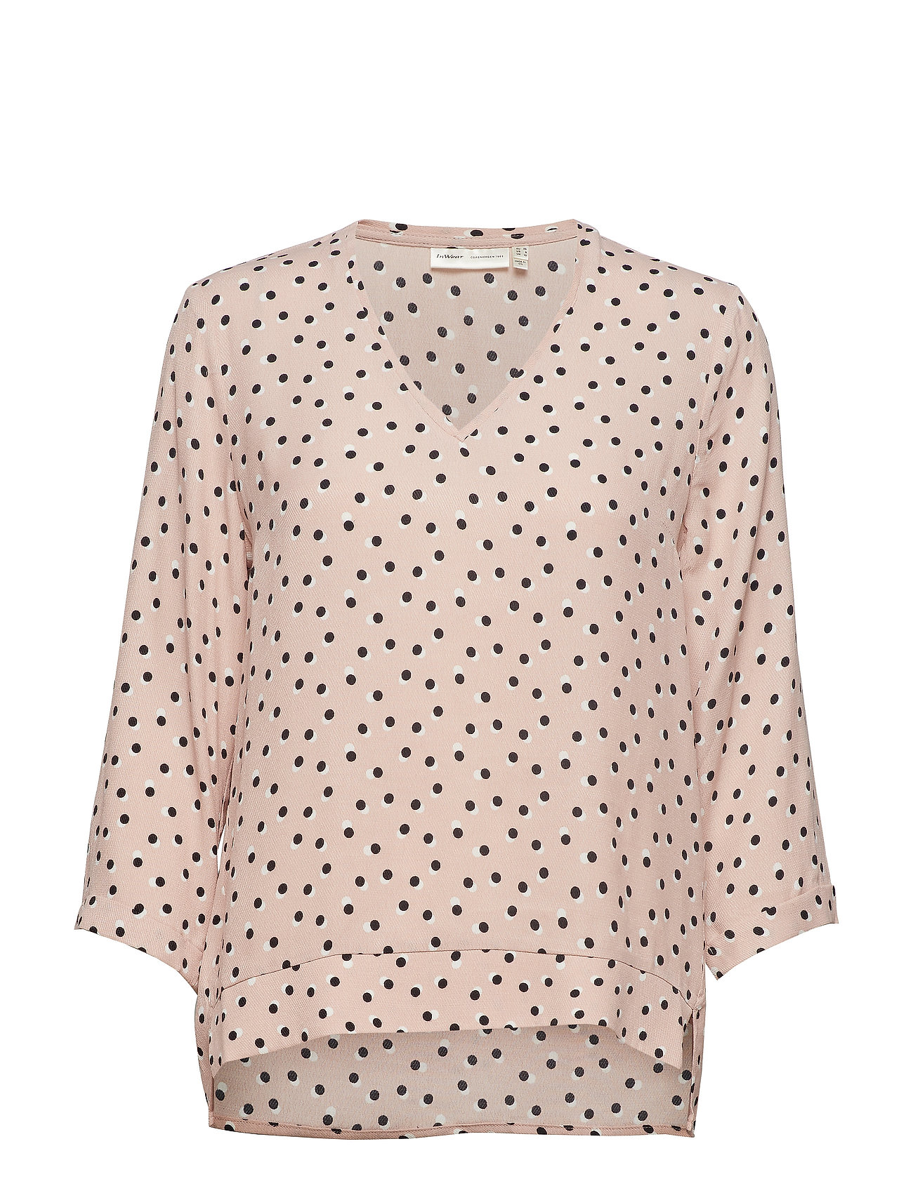 InWear Blake V-neck Top - ROSE DUST DOUBLE DOT