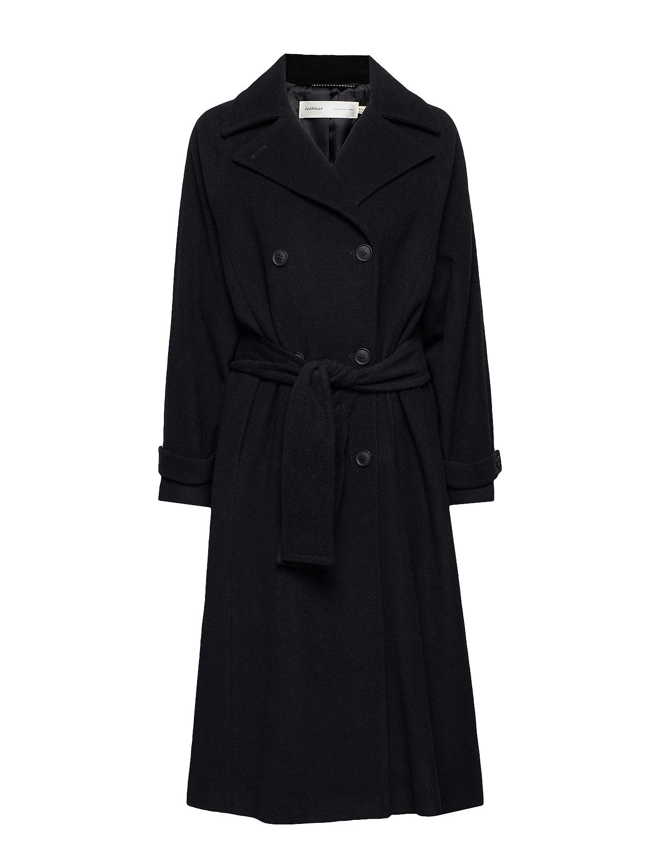 InWear ZelieIW Raglan Coat - BLACK