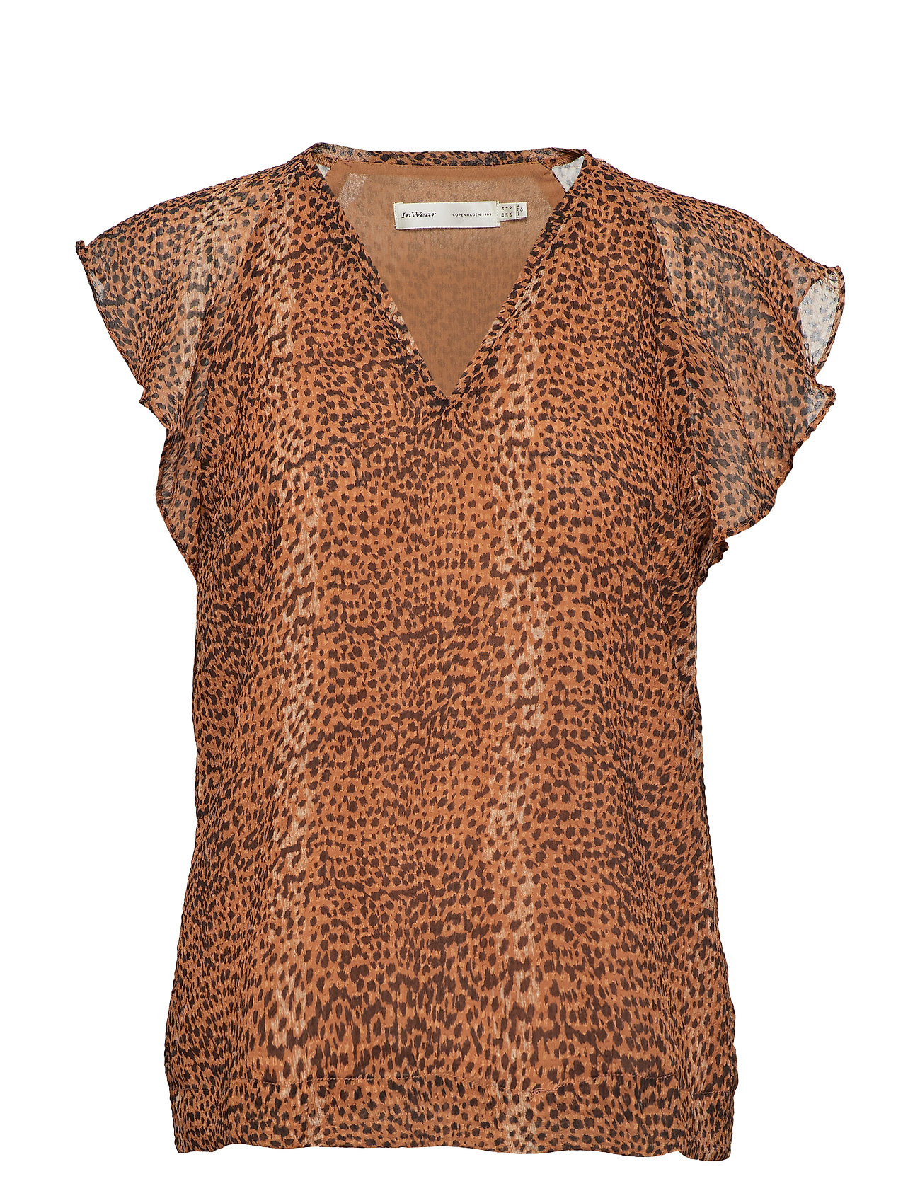 tanyaiw top  light brown animal   560 kr