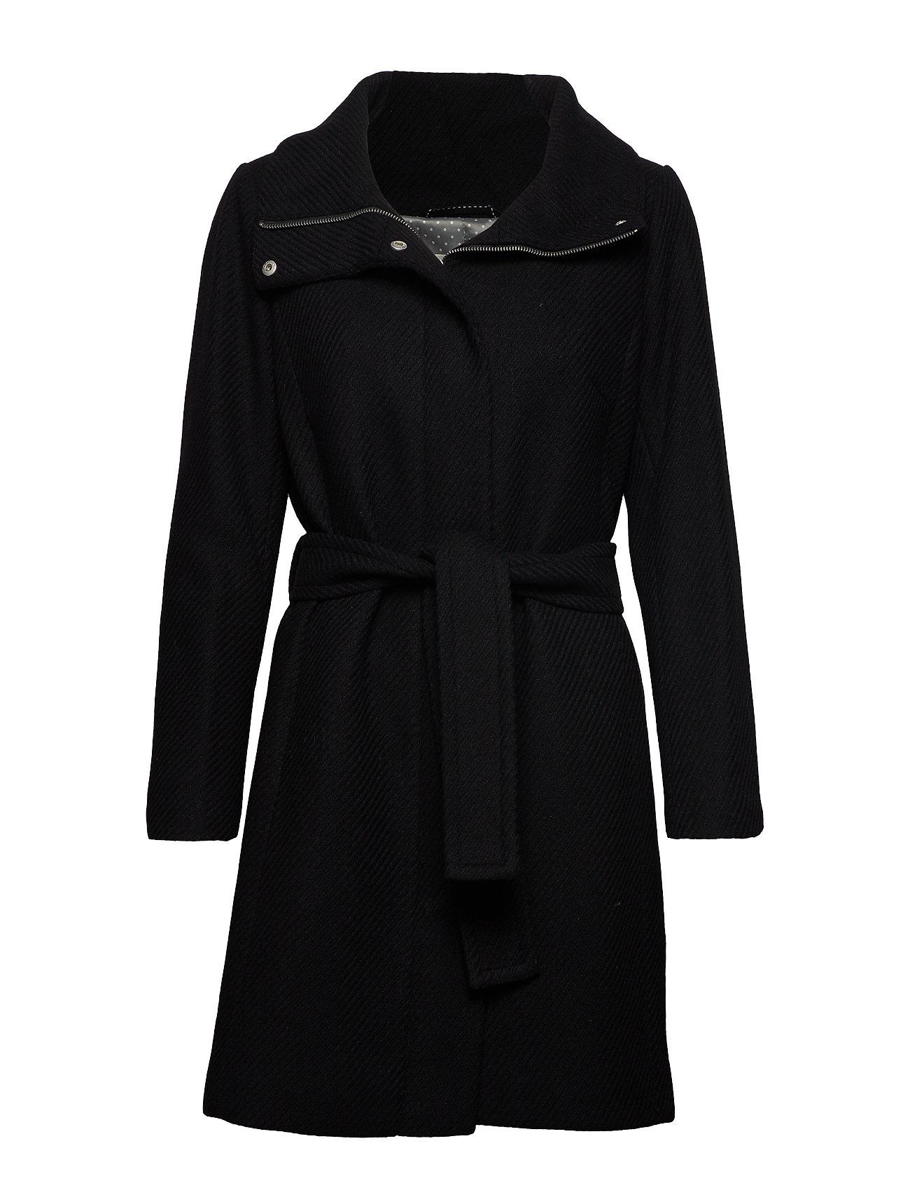 InWear ZeolaIW Zip Coat Solid - BLACK