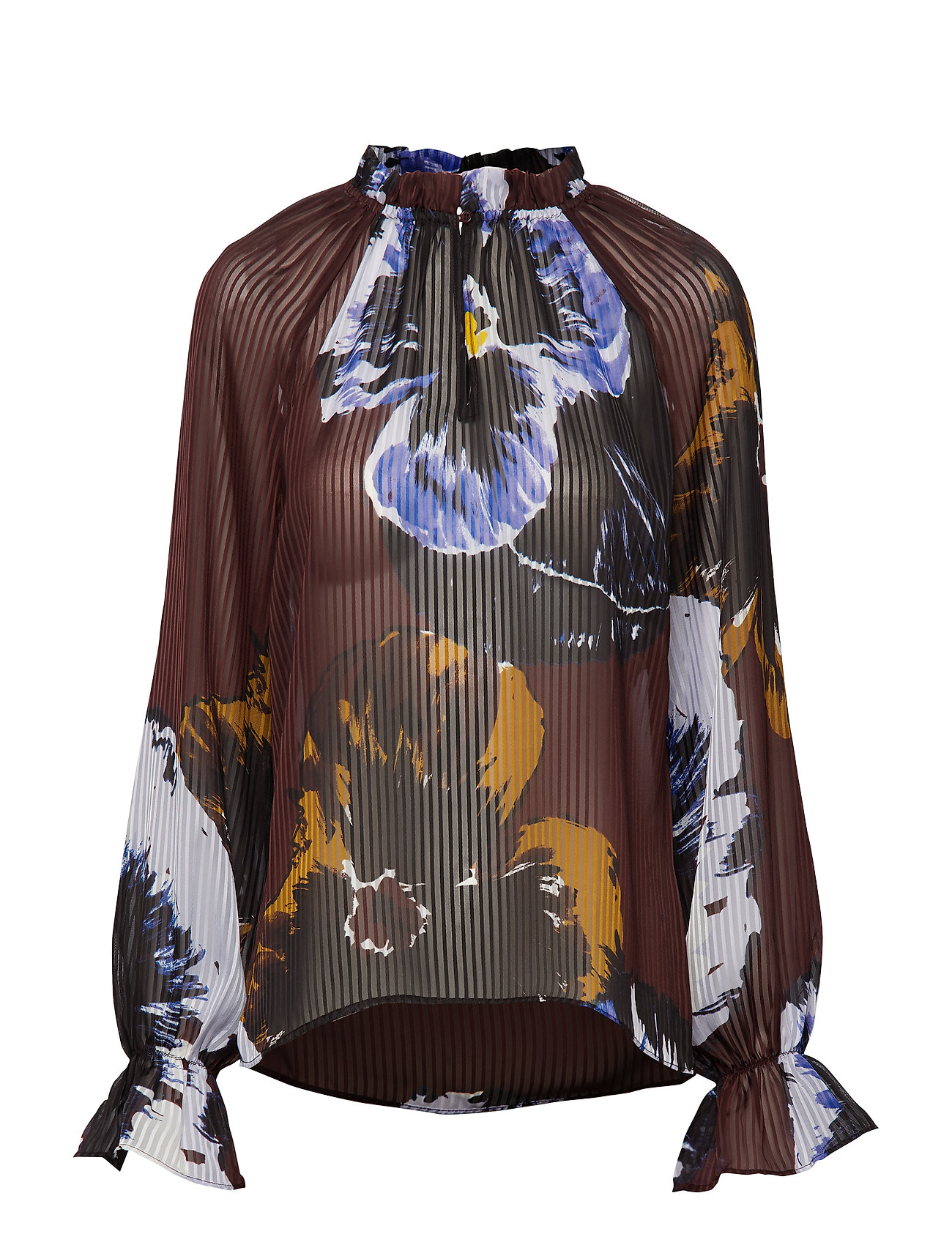InWear KalistaIW Blouse - BITTER CHOCOLATE PANSY FLOWER