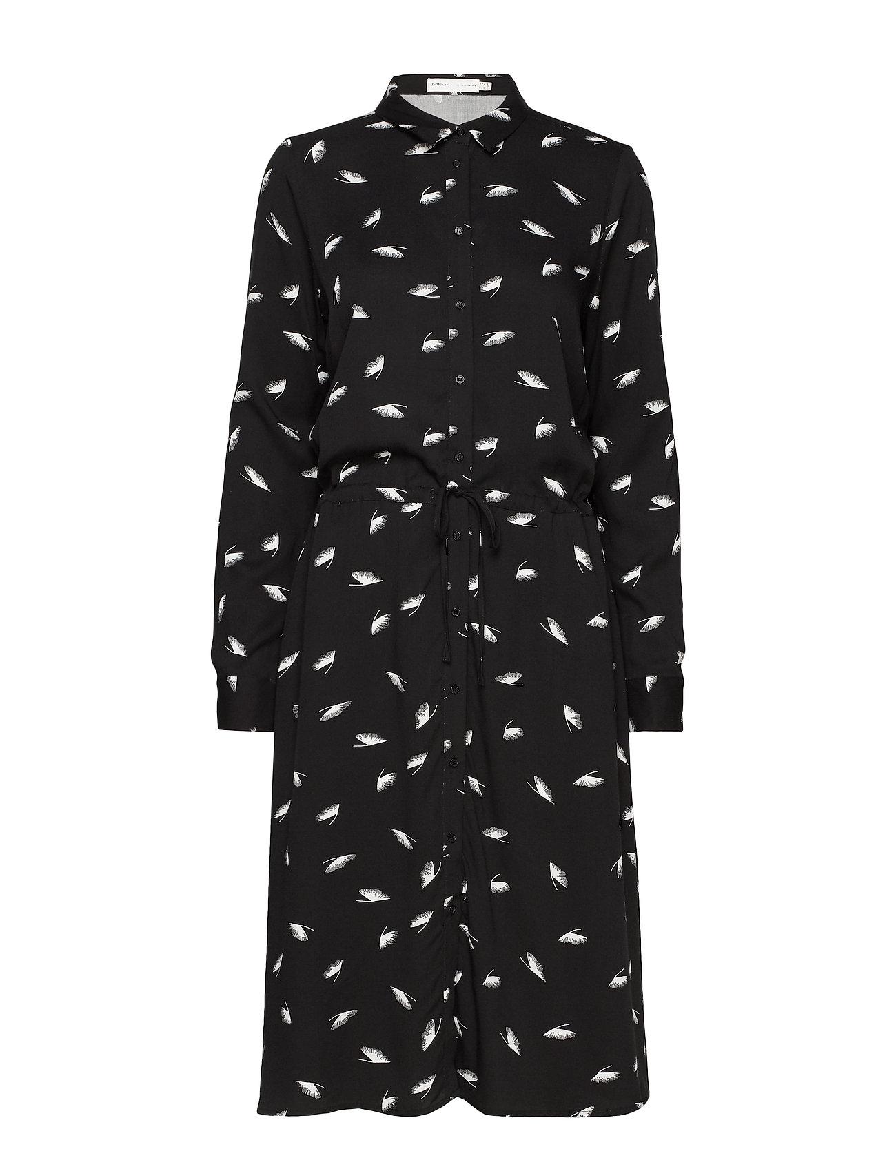 InWear KristinaIW Dress - BLACK GINKO LEAVES