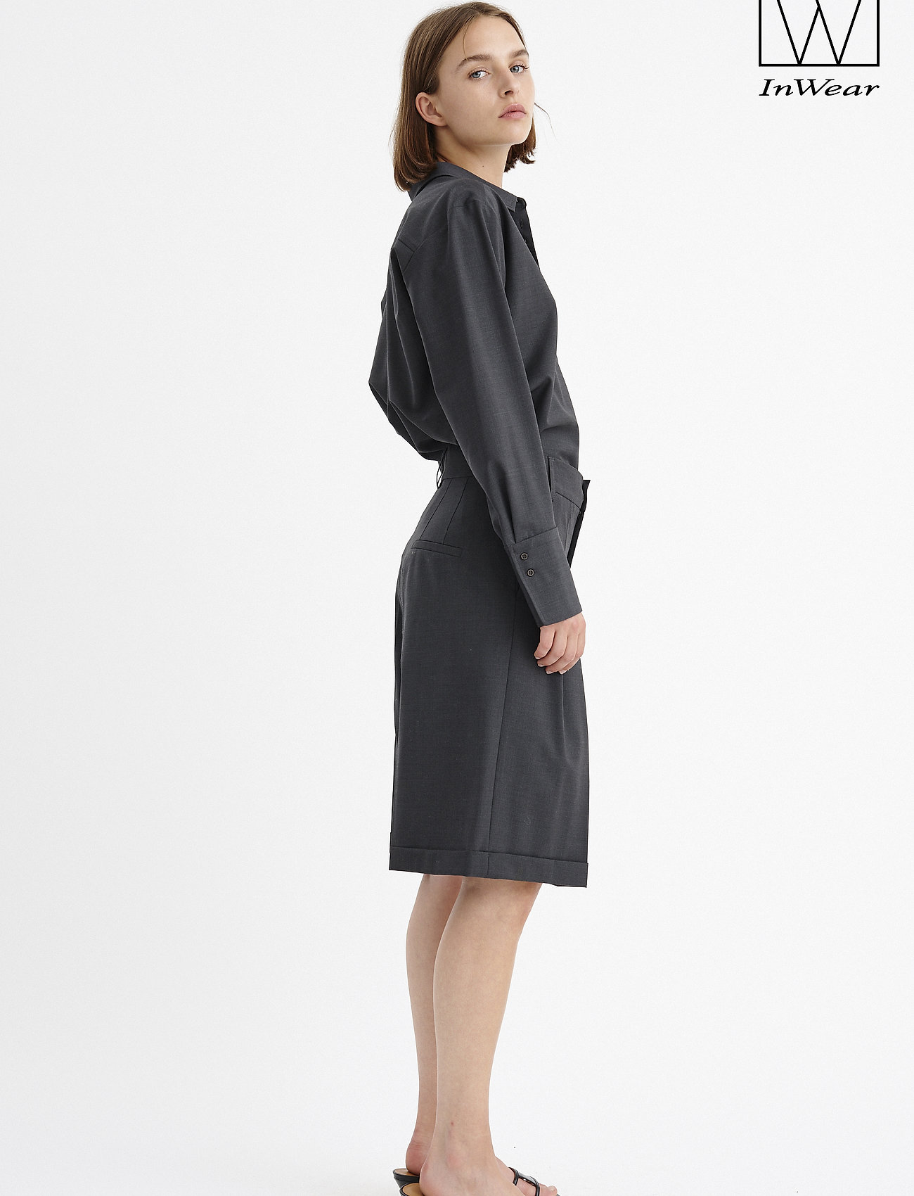 InWear - IW50 32 CarolynIW Shorts - bermudas - dark grey melange - 0