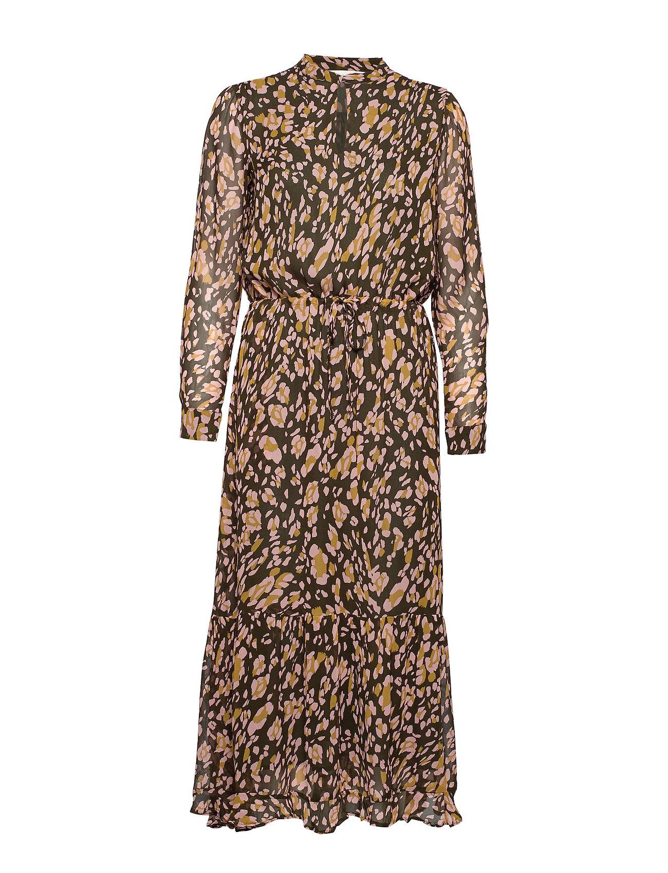InWear ClariceIW Dress - OLIVE LEAF IRREGULAR ANIMAL