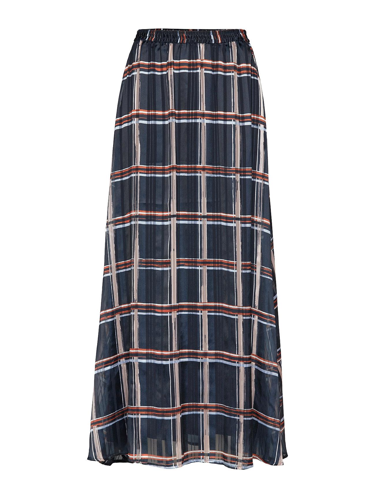 InWear ZilmaIW Hilma Skirt - MARINE BLUE CHECK
