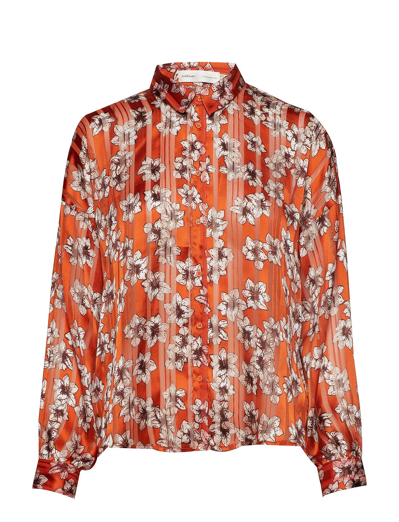 InWear ZilmaIW Hilma Shirt - GOLD FLAME HIBISCUS FLOWER