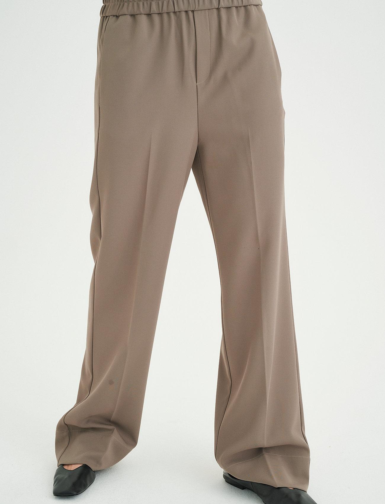 InWear - OraIW Wide Pant - bukser med brede ben - sandy grey - 0