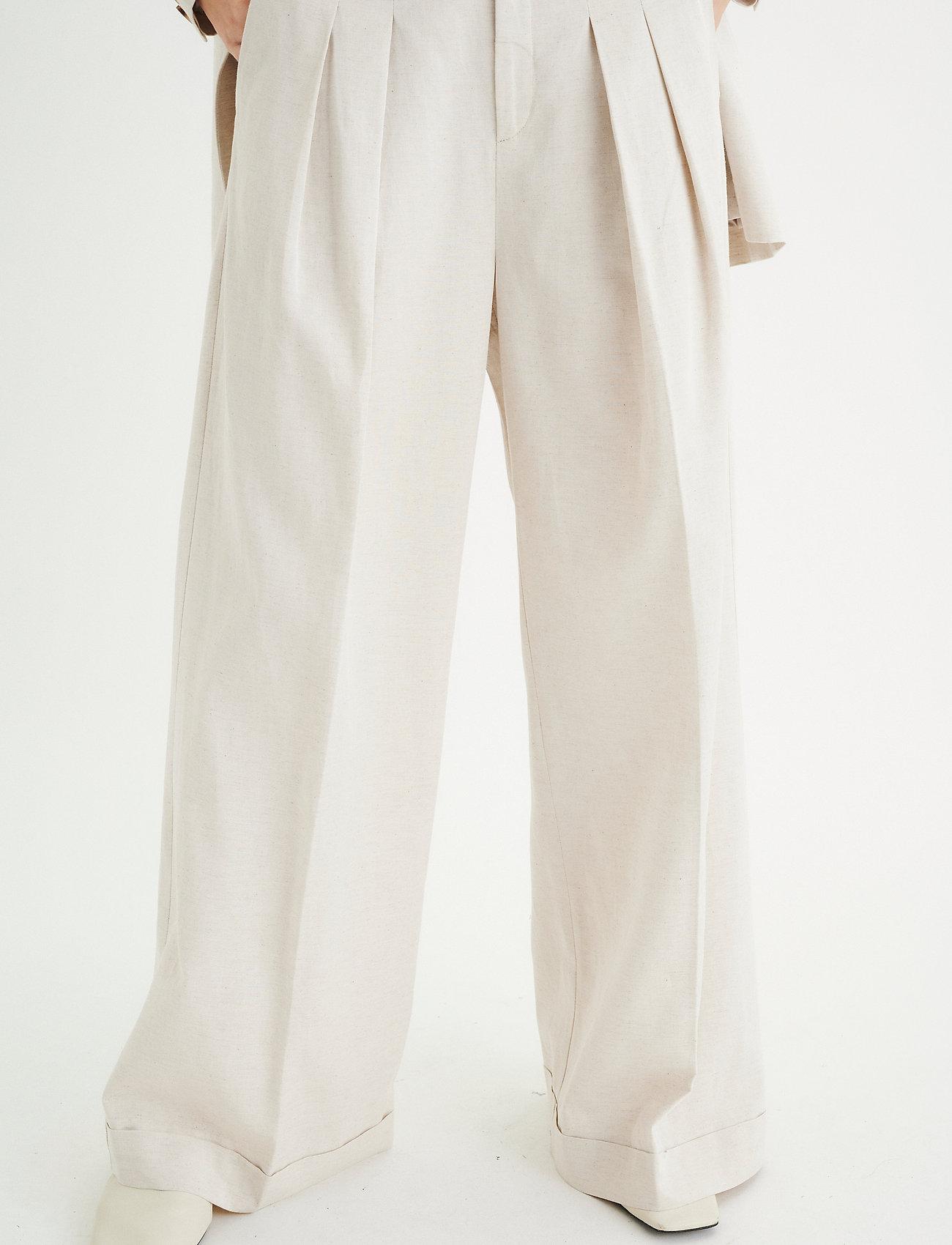 InWear - AilaIW Wide Pant - bukser med brede ben - ecru - 0