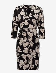 InWear - Chan Dress HW - midi kjoler - watercolor flower black - 0