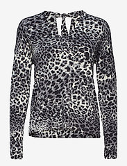 InWear - Fillucca Blouse - long sleeved blouses - leopard non - 0