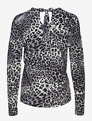 InWear - Fillucca Blouse - long sleeved blouses - leopard non - 1