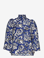 InWear - Eluka Top - short-sleeved blouses - graphic garden blue night - 0