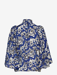 InWear - Eluka Top - short-sleeved blouses - graphic garden blue night - 1