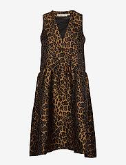 InWear - MounaIW Dress - midimekot - leopard gold - 0