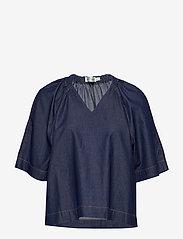 InWear - MinneIW Blouse - bluzki z krótkim rękawem - rinsewash - 0