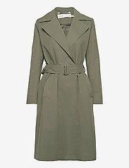 InWear - YumaIW Coat - trenchcoats - beetle green - 1