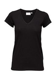 Rena V Tshirt - BLACK