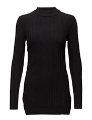 Taffy Turtleneck Long KNIT - BLACK