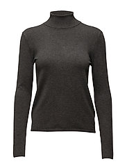 Tracy Rollneck KNIT - DARK GREY MELANGE