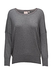 Lua Pullover KNIT - MEDIUM GREY MELANGE