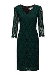 Polly Dress LW - BOTTLE GREEN