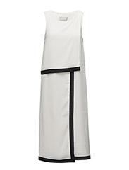 Zayda Fake Wrap Dress - WHITE SMOKE