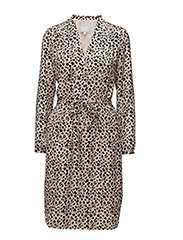 Phoebe Print Dress - MINI LEOPARD NEUTRAL