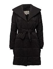Greta Collar Coat - BLACK