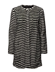 Leoma Coat - BLACK AND WHITE