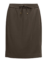 Lori Pull On Skirt - DARK OLIVE