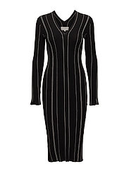 Tana Dress - BLACK / WHITE SMOKE