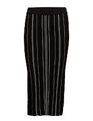 Tana Skirt KNIT - BLACK / WHITE SMOKE